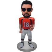 Custom Football Man Bobble