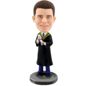 Custom Graduation Man Bobblehead