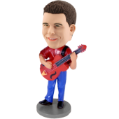 Custom Red Guitar Bobblehead