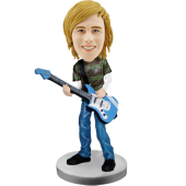 Bass Guitar Player Custom Bobble Head