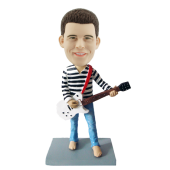 Custom Guitarist Bobblehead in Blue Jeans
