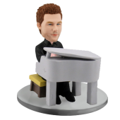 Male Pianist Custom Bobblehead