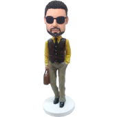 Customized Bobble Head Sylish Man