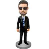 Customized Bobblehead Trademan In Suit