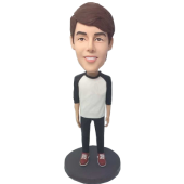 Customized Casual Boy Bobble Head