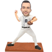 Detroit Baseball Buddy Personalized Bobble Head