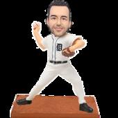 Detroit Baseball Buddy Personalized Bobble Head