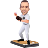 Detroit Baseball Pitcher Custom Bobblehead
