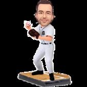 Detroit Baseball Pitcher Custom Bobblehead