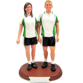 Soccer Couple Cake Topper