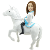 Girl on Unicorn Custom Bobblehead