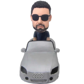Man in Audi Car