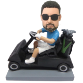 Man in Golf Car