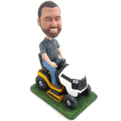 Man Riding Mower