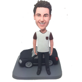 Man With Black Car Custom Bobblehead