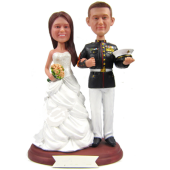 Marine Wedding Cake Topper