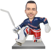 NY Hockey Goalie Bobble Head