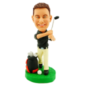 Personalized Golfer Bobblehead