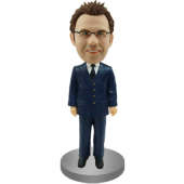 Personalized Bobble Head Airline Pilot