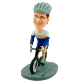 Personalized Cyclist Bobble Head