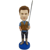 Personalized Fisher Bobblehead