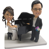 Piano Couple Bobbleheads