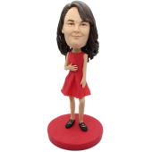 Red Skirt Girl Custom Bobblehead