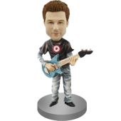 Rock Guitar Player Bobblehead