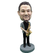 Saxophone Player Custom Bobblehead