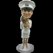 Sexy Girl In Marine Uniform Bobblehead