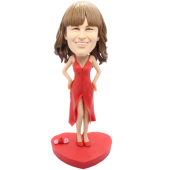 Slip Dress Girl Custom Bobblehead