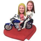 Sport Sisters on Motor Custom Bobbleheads