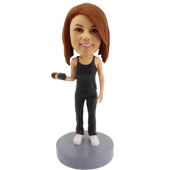 Working Out Girl Custom Bobblehead