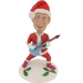 Personalized Christmas Guitarist Bobblehead
