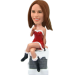 Personalized Christmas Bobblehead for Sexy Lady