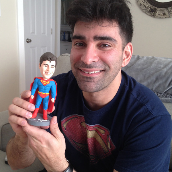 review custom superman bobblehead