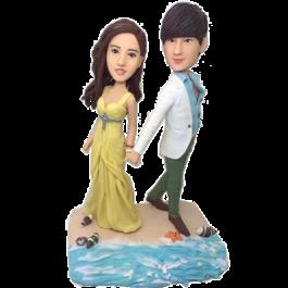 Beach Couple Wedding Bobbleheads