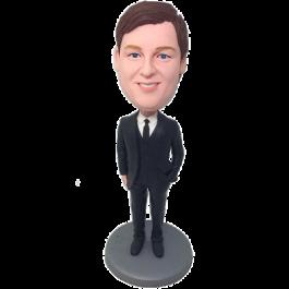 Black Tie Groomsman Bobble Head