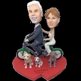 Bycicle Couple Wedding Bobbleheads