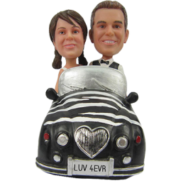 Couple in Car Bobbleheads