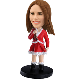 Personalized Christmas Bobble Head for Girls