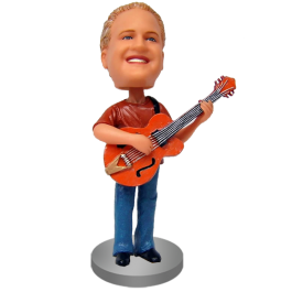 Personalized Guitarist Bobblehead