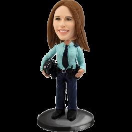 Personalized Policewoman Bobblehead