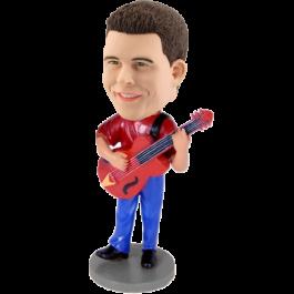 Custom Red Guitar Bobblehead