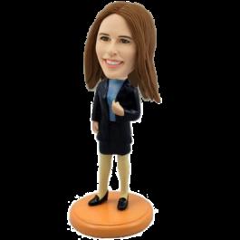 Custom Sexy Office Lady Bobble head