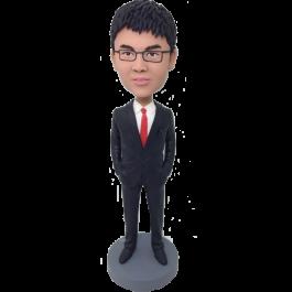 Custom Smart Man Bobble Head