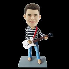 Custom Guitarist Bobblehead in Blue Jeans