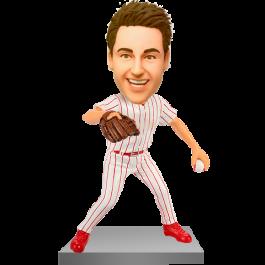 Customized Baseball Picther Bobble Head