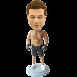 Customized Kickboxing bobblehead