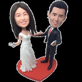 Dancing Couple Wedding Bobbleheads